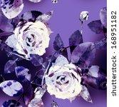roses seamless pattern | Shutterstock . vector #168951182