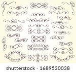 set of elegant decorative... | Shutterstock .eps vector #1689530038