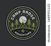 camping badge graphic emblem... | Shutterstock .eps vector #1689551152