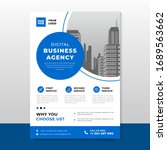 corporate business flyer poster ...   Shutterstock .eps vector #1689563662
