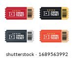cinema vector tickets isolated... | Shutterstock .eps vector #1689563992