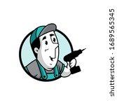 vector illustration of a retro... | Shutterstock .eps vector #1689565345