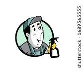 vector illustration of a retro... | Shutterstock .eps vector #1689565555