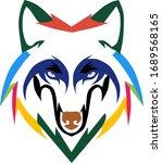 wolf head vector illustration... | Shutterstock .eps vector #1689568165