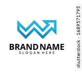 letter w with arrow logo design ... | Shutterstock .eps vector #1689571795