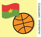 basketball ball with burkina... | Shutterstock .eps vector #1689590512