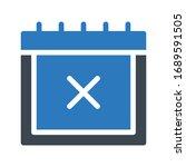 calendar vector glyph color... | Shutterstock .eps vector #1689591505