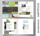 vector layout of two covers... | Shutterstock .eps vector #1689595132