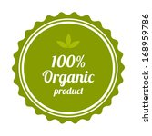 100  organic product badge and... | Shutterstock . vector #168959786