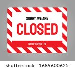 vector closed sign. information ... | Shutterstock .eps vector #1689600625