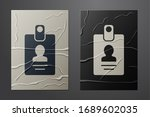 white identification badge icon ... | Shutterstock .eps vector #1689602035