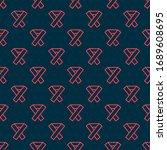 red line awareness ribbon icon... | Shutterstock .eps vector #1689608695