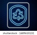 glowing neon line recycle... | Shutterstock .eps vector #1689610132