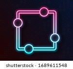 glowing neon line electric... | Shutterstock .eps vector #1689611548