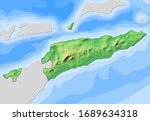 map of east timor with...   Shutterstock . vector #1689634318