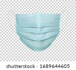 protective medical face mask....   Shutterstock .eps vector #1689644605
