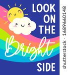 cute sun  cloud cartoon and...   Shutterstock .eps vector #1689660148