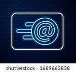 glowing neon line mail and e...   Shutterstock .eps vector #1689663838