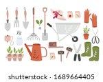 Garden Tool Set. Vector...