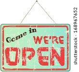 open shop sign  vector... | Shutterstock .eps vector #168967652