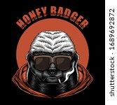 honey badger eyeglasses vector...   Shutterstock .eps vector #1689692872