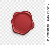 red stamp. wax seal. retro... | Shutterstock .eps vector #1689697042