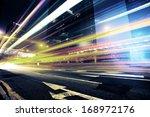 Car Light Trails And Urban...