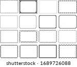 simple border frame vector set | Shutterstock .eps vector #1689726088