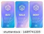 vector banners for real estate...   Shutterstock .eps vector #1689741205