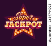 super jackpot casino red star... | Shutterstock .eps vector #1689744025