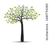 vector illustration of a tree... | Shutterstock .eps vector #1689754285