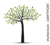 vector illustration of a tree... | Shutterstock .eps vector #1689754285