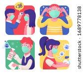 4 effective covid 19 precaution ... | Shutterstock .eps vector #1689778138