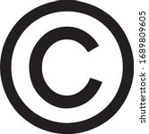 Copyright symbol, copyright logo icon, sign vector