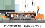 empty coworking space modern... | Shutterstock .eps vector #1689827938
