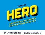 comics super hero style font... | Shutterstock .eps vector #1689836038