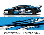 sports car wrapping decal design | Shutterstock .eps vector #1689857332