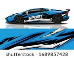 sports car wrapping decal design | Shutterstock .eps vector #1689857428