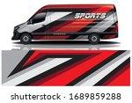 van car wrapping decal design | Shutterstock .eps vector #1689859288