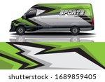 van car wrapping decal design | Shutterstock .eps vector #1689859405