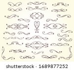 set of design elements for... | Shutterstock .eps vector #1689877252