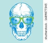 Skull Sunglasses Typography ...