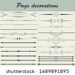 vintage page dividers set with... | Shutterstock .eps vector #1689891895