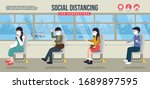 social distancing for... | Shutterstock .eps vector #1689897595