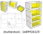 stackable retail double edge...   Shutterstock .eps vector #1689926125
