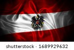 Close up waving flag of austria....