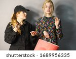 shoplifting is a crime. young... | Shutterstock . vector #1689956335
