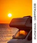 camper recreational vehicle at... | Shutterstock . vector #1689956338