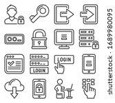 login icons set on white... | Shutterstock .eps vector #1689980095