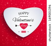 happy valentines day card....   Shutterstock .eps vector #169001396